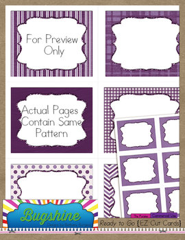 Ready to Go {EZ Cut Cards} for Commercial Use: The Purples