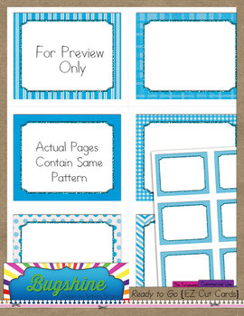 Ready to Go {EZ Cut Cards} for Commercial Use: The Turquoises