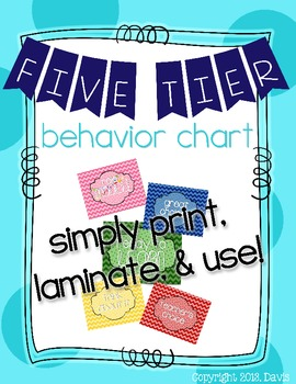Ready to Learn?? Five Tier Chevron Behavior Chart/Manageme