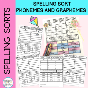 Spelling Word Work Ready to Print and Use Sorts Aligned wi