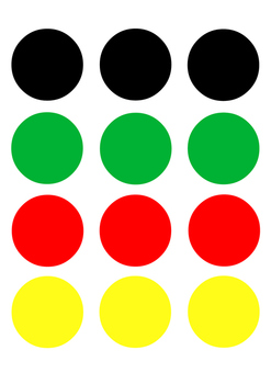 Ready-to-print and cut colour circles for various craft ac