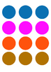 Ready-to-print and cut colour shapes circles for various c