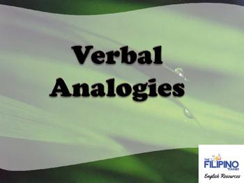 Ready to use presentation on Verbal Analogies