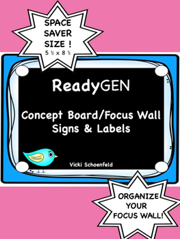 ReadyGEN Concept Board/Focus Wall Signs-Space Saver Size