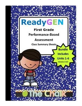 ReadyGEN First Grade Performance-Based Assessment Class Su