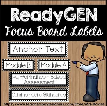 ReadyGEN Focus Board Labels Blackline