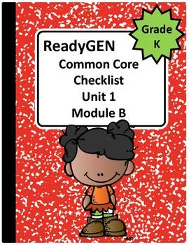 ReadyGEN Kindergarten Common Core Checklist Unit 1 Module B