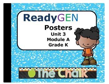 ReadyGEN Kindergarten Unit 3 Module A Posters