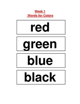 ReadyGEN (Ready GEN) Phonics Unit 1 Word Work for Word Wall