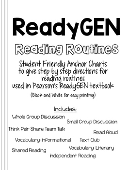 ReadyGEN Reading Routine Anchor Charts