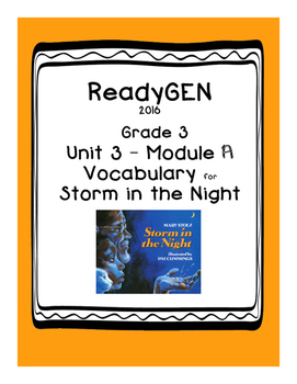 ReadyGEN Storm in the Night Vocabulary