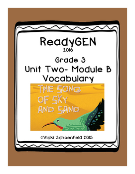 ReadyGEN Vocabulary The Song of Sky and Sand Grade 3
