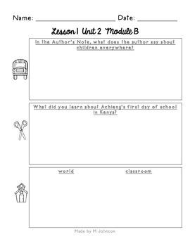 ReadyGEN Unit 2 Module B Work Pages