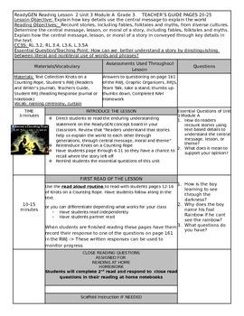 ReadyGEN Unit 3 Module A Lesson 2 Grade 3
