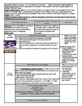 ReadyGEN Unit 3 Module B Lesson 7 Grade 3 Weather
