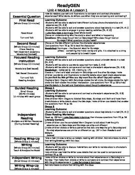 ReadyGEN Unit 4 Module A Lessons 1-13 Kindergarten
