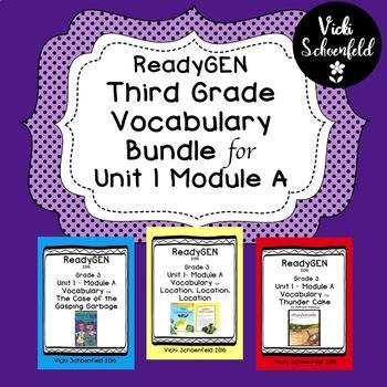 ReadyGEN Vocabulary Bundle for Grade 3 Unit 1 Module A