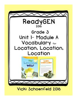 ReadyGEN Vocabulary The Lemonade War Location, Location, Location
