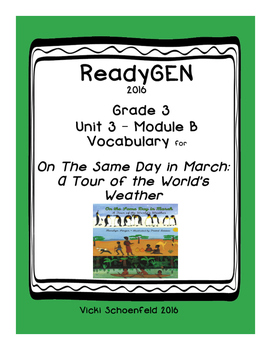 ReadyGEN Vocabulary for On the Same Day in March: A Tour o