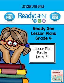 ReadyGen 2014-15 Lesson Plans - BUNDLED - Grade 4
