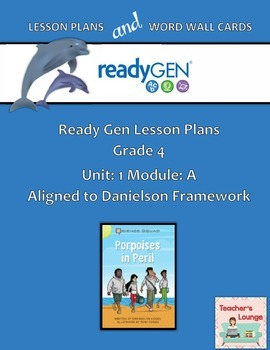 ReadyGen 2016 Lesson Plans Unit 1A - Word Wall Cards - EDI