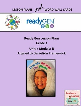 ReadyGen 2016 Lesson Plans Unit 1B - Word Wall Cards - EDI