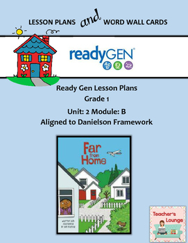ReadyGen 2016 Lesson Plans Unit 2B - Word Wall Cards - EDI