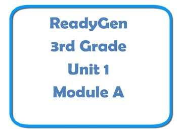 ReadyGen Concept board wall 3rd grade unit 1 Module A