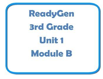 ReadyGen Concept board wall 3rd grade unit 1 Module B
