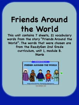 ReadyGen Friends Around the World Vocabulary 2nd Grade Unit 1