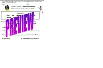 ReadyGen Grade 4: Module B Vocabulary Assessment: Lessons 1-4