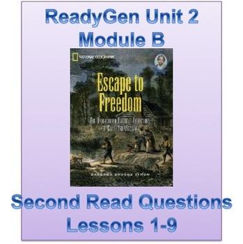 "ReadyGen Grade 5 Unit 2 Module B ""Second Read"" Questions f"