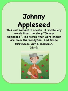 ReadyGen Johnny Appleseed Vocabulary 2nd Grade Unit 5 Module A