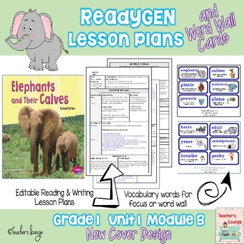 ReadyGen Lesson Plans Unit 1 Module B  - Word Wall Cards -