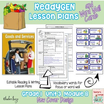 ReadyGen Lesson Plans Unit 3 Module B  - Word Wall Cards -