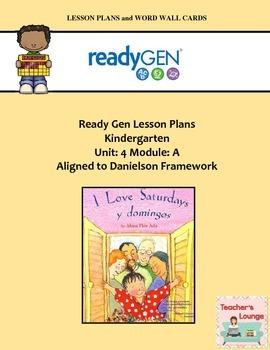 ReadyGen Lesson Plans Unit 4 Module A - Word Wall Cards -