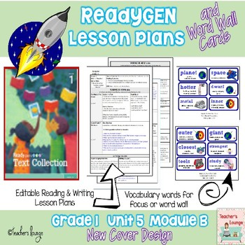 ReadyGen Lesson Plans Unit 5 Module B  - Word Wall Cards -