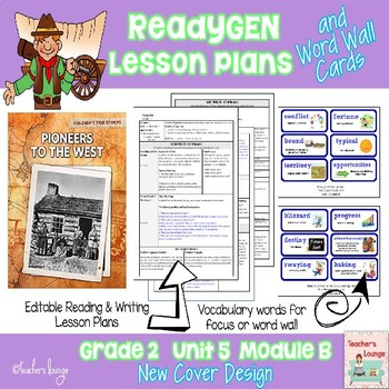 ReadyGen Lesson Plans Unit 5 Module B  - Word Wall Cards -