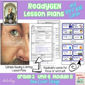 ReadyGen Lesson Plans Unit 6 Module B  - Word Wall Cards -