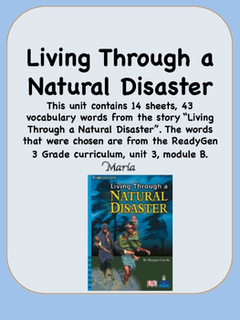 ReadyGen Living Through a Natural Disaster Vocabulary 3rd