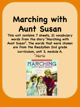 ReadyGen Marching with Aunt Susan Vocabulary 2nd Grade Uni