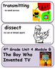 ReadyGen The Boy Who Invented TV Vocabulary 4th Grade Unit