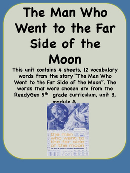 ReadyGen The Man Who Went to the Far Side of the Moon Voca