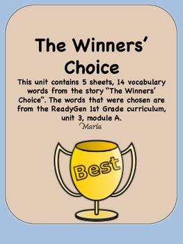 ReadyGen The Winners' Choice 1st Grade Unit 3 Module A