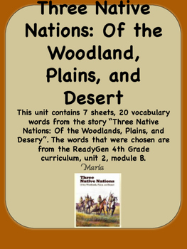 ReadyGen Three Native Nations: Of the Woodlands, Plains, a