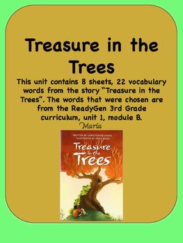 ReadyGen Treasure in the Trees Vocabulary 3rd Grade Unit 1