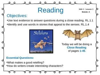 ReadyGen Unit 1 Module A - EDITABLE PowerPoint Lessons - Grade 1