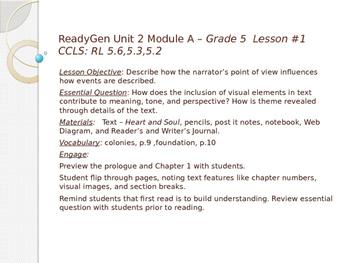 ReadyGen  Unit 2 Module A grade 5  lessons 1-18