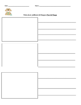 ReadyGen Unit 2-The Old Things: Writing Paper/Assessment
