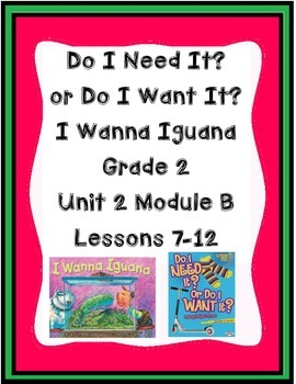 ReadyGen Worksheets 2nd grade Unit 2B  Lessons 7-12 Need I